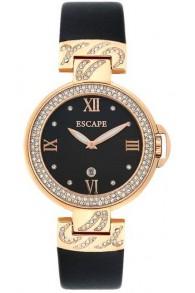 Escape Altın Kasa Siyah Kordonlu Kadın Saati