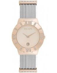 Escape Rose Gold Renklı Gri Çelik Kordonlu Kadın Saati