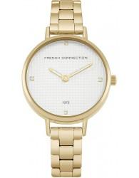 French Connection Beyaz Kadran Altın Kaplama Altın Sarısı Kordonlu Kadın Saati