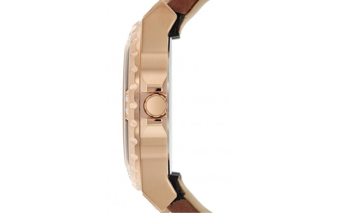 Guess Rose Gold Kahverengi Kordonlu Kadın Saati