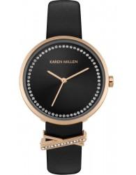 Karen Millen Siyah Kordonlu Kadın Saati